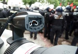 Cops also attacked older people, children, journalists and demolisehd cameras.