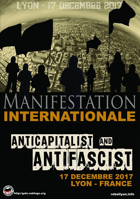 Lyon : manifestation internationale antifasciste anticapitaliste @ Lyon